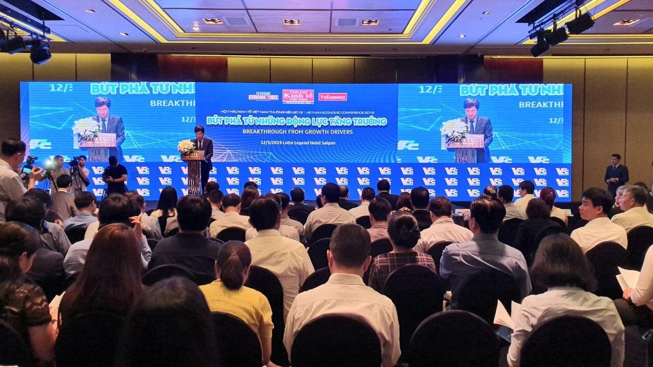 """Hội thảo với chủ đề """"Bứt phá từ những động lực tăng trưởng"""" diễn ra sáng 12/3 tại Tp.HCM."""